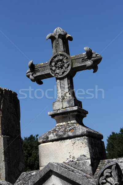 tombstone cross Stock photo © Hasenonkel