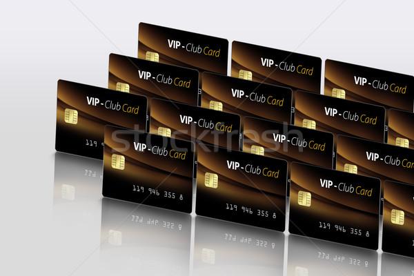 Elektronische kaart moderne identificatie reflectie geld Stockfoto © Hasenonkel