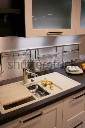 キッチン 詳細 現代 新しい 水 デザイン ストックフォト © Hasenonkel