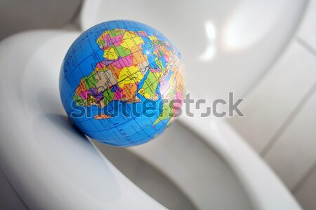 World on abyss Stock photo © Hasenonkel