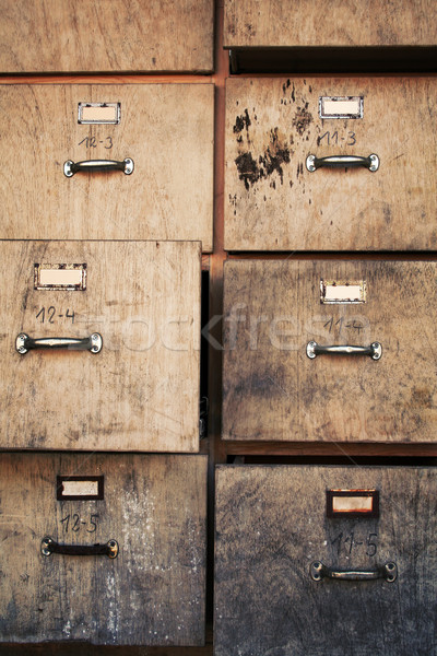 old filing cabinet Stock photo © Hasenonkel