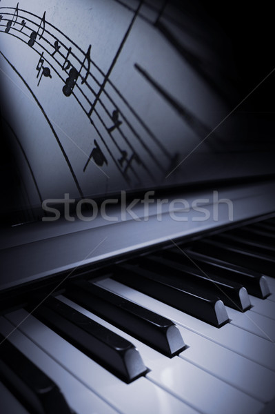 Stockfoto: Piano · elegantie · elegante · mooie · blues · jazz