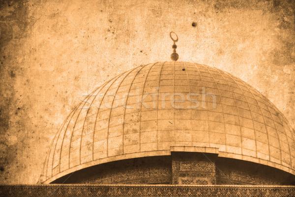 Gerusalemme Israele retro guardare sfondo Foto d'archivio © Hasenonkel