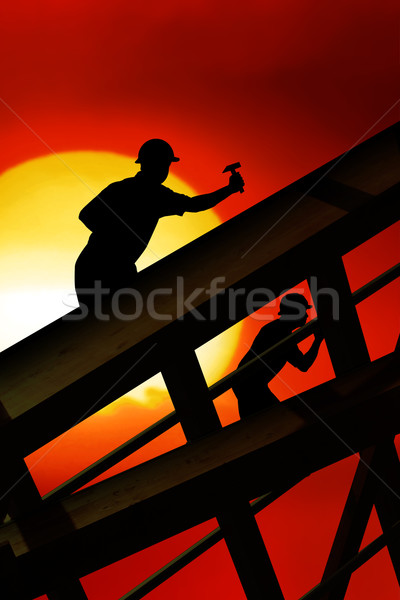 roof worker Stock photo © Hasenonkel