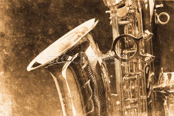 Szaxofon öreg gyönyörű szaxofon retro terv Stock fotó © Hasenonkel