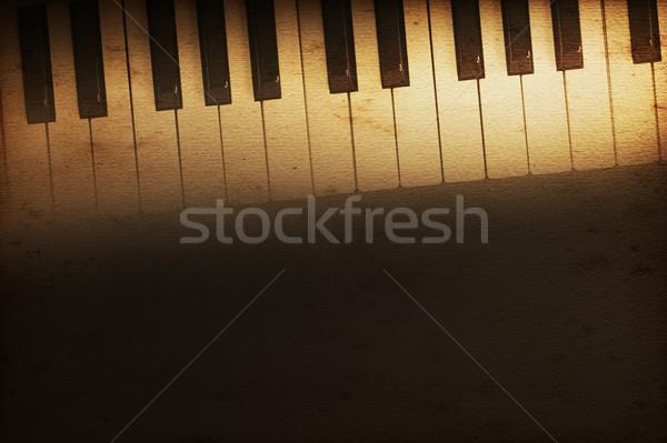 Kuyruklu piyano eski tarihsel klavye müzik doku Stok fotoğraf © Hasenonkel