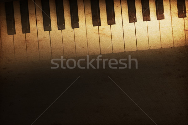 Vleugelpiano oude historisch toetsenbord muziek textuur Stockfoto © Hasenonkel