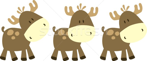 childish moose Stock photo © hayaship