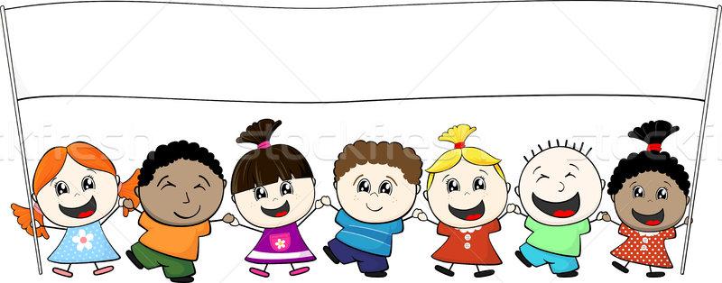 детей баннер мало дети Сток-фото © hayaship