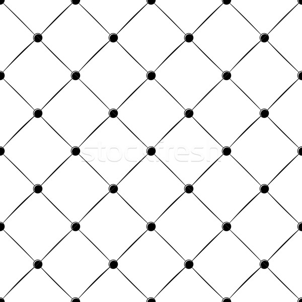 upholstery buttoned rhomb seamless pattern Stock photo © hayaship