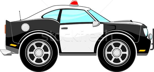 pólice car cartoon vector Stock photo © hayaship