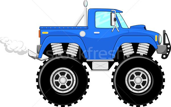 Сток-фото: Cartoon · вектора · монстр · грузовика · 4x4 · изолированный