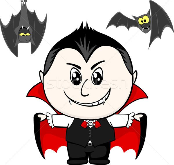 ребенка вампир мало костюм изолированный белый Сток-фото © hayaship
