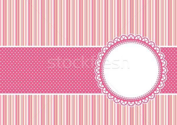 Karalama defteri pembe sevimli vektör çerçeve Stok fotoğraf © hayaship