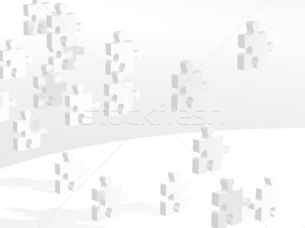 Battant pièces de puzzle image plusieurs concepts construction Photo stock © hayaship
