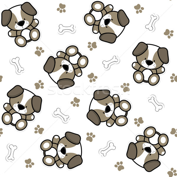 Drôle bébé chiens chiot Photo stock © hayaship