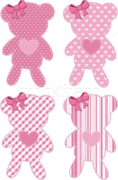 cute teddy bear applique for baby girl Stock photo © hayaship