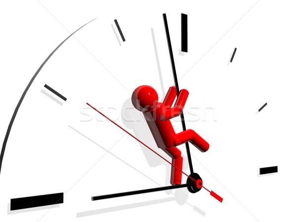 3d render salvar tempo metáfora negócio homem Foto stock © hayaship