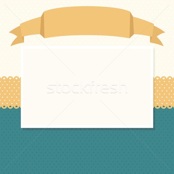 Scrapbook ruban tête cadre photos espace de copie Photo stock © hayaship