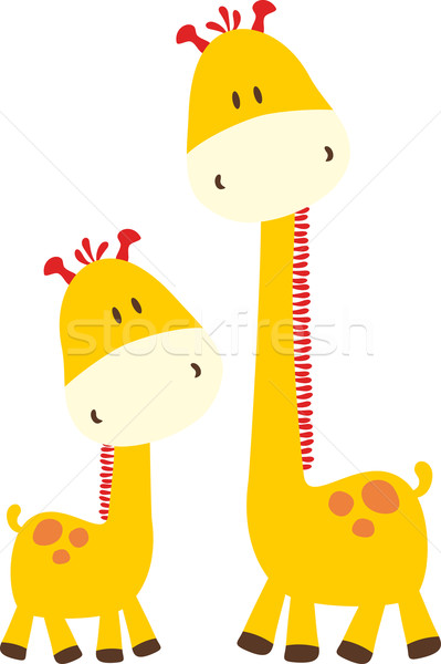 cute baby giraffes Stock photo © hayaship