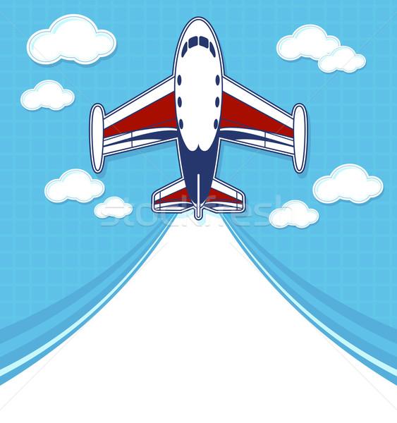 private jet cartoon background Stock photo © hayaship