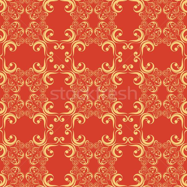 Régi tapéta dekoratív díszek minta öreg stílus Stock fotó © hayaship