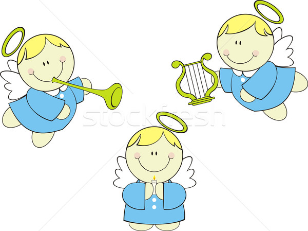 cherubs vector Stock photo © hayaship