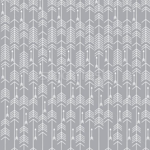 monochrome minimalist arrow seamless background Stock photo © hayaship