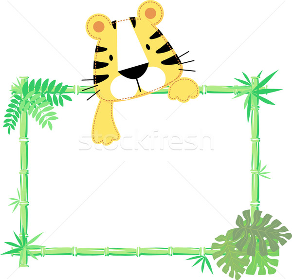 baby tiger frame vector Stock photo © hayaship