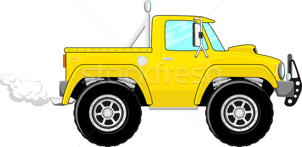 pickup truck artoon Stock photo © hayaship