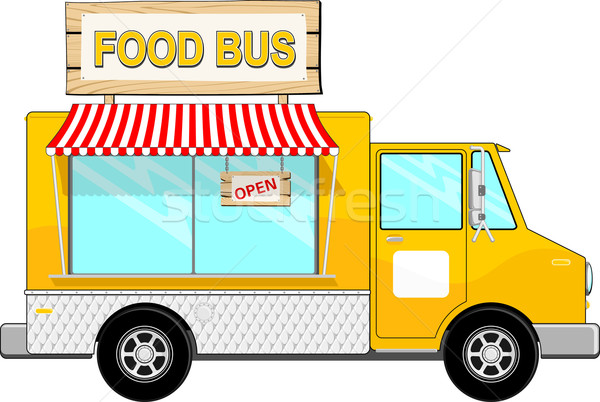Alimentaire camion rue cartoon illustration bus Photo stock © hayaship