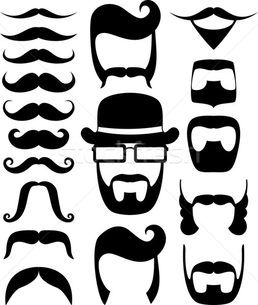 ustache prop vector silhouettes Stock photo © hayaship