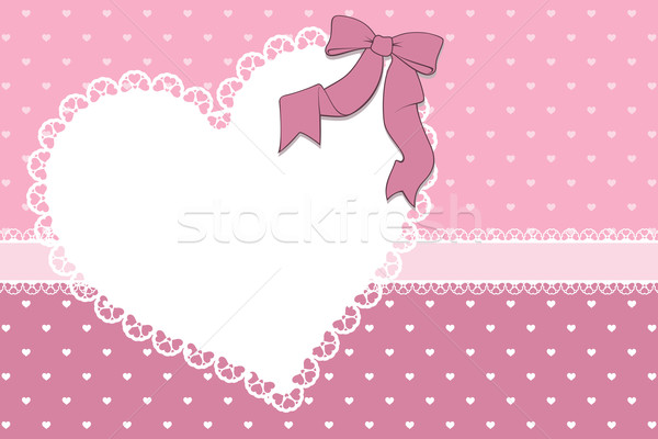 Valentijnsdag plakboek frame harten lint hart Stockfoto © hayaship