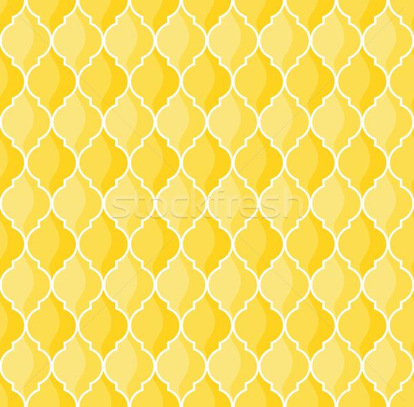 шаблон вектора геометрический желтый фон Сток-фото © hayaship