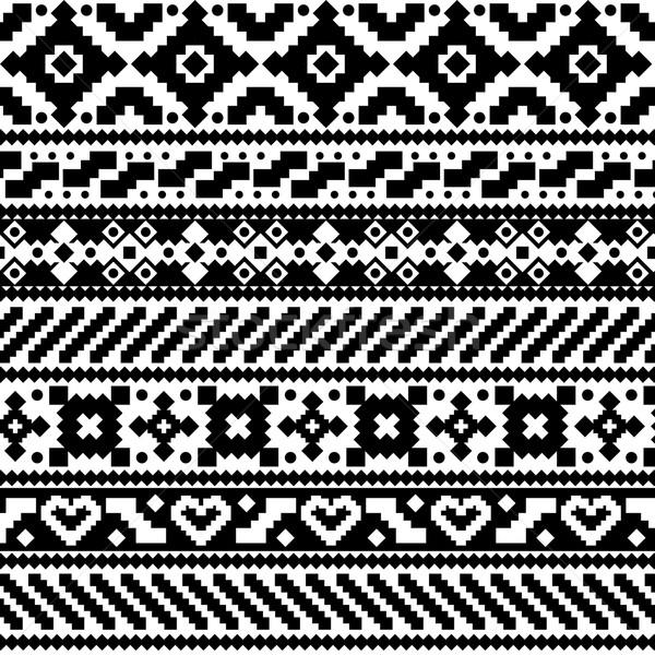 Style résumé ethniques blanc noir design Photo stock © hayaship
