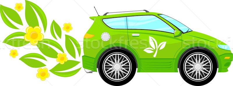 écologique voiture vert écologie fleurs laisse Photo stock © hayaship