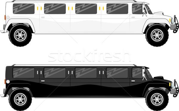 Vip トラック 2 孤立した 白 車 ストックフォト © hayaship