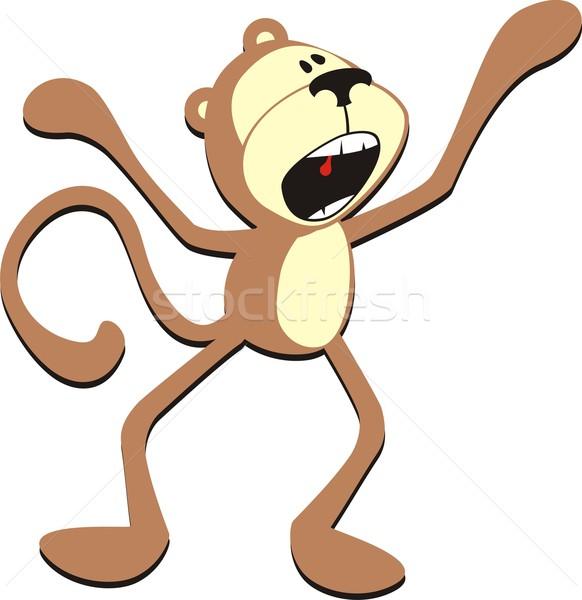 Sikít majom izolált rajz egyéni tárgyak Stock fotó © hayaship
