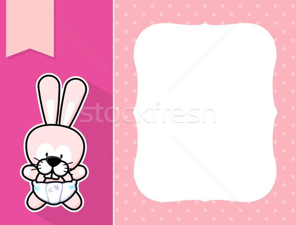 Cadre bébé lapin cute peu couche Photo stock © hayaship