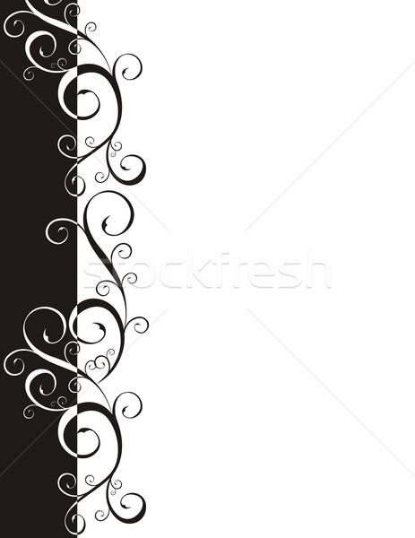 Page frontière ornements vecteur format facile Photo stock © hayaship