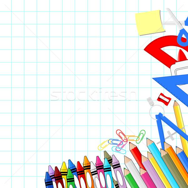 Tanszerek fehér hálózat papír vektor formátum Stock fotó © hayaship