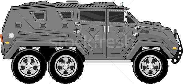 armored truck vehicle Stock photo © hayaship