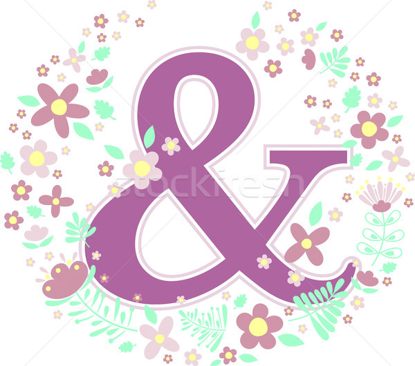 initial letter & with decorative flowers Stock photo © hayaship