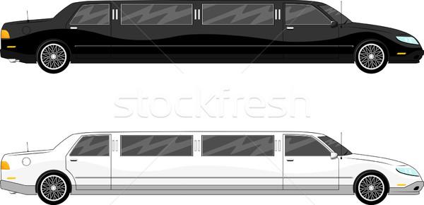 Vip twee limousine geïsoleerd witte auto Stockfoto © hayaship