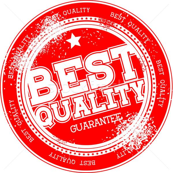 Mejor calidad garantizar grunge sello aislado Foto stock © hayaship