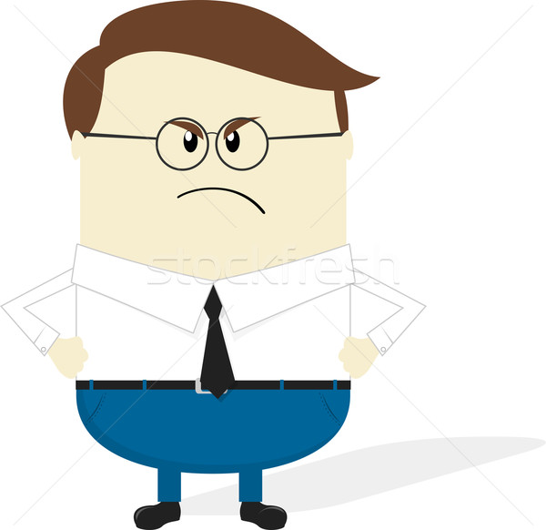 angry boss cartoon Stock photo © hayaship