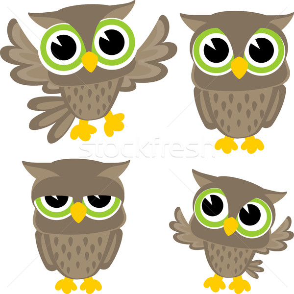 cute owls vector Stock photo © hayaship