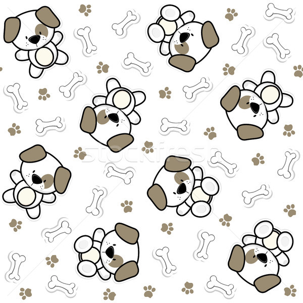 Komik bebek köpekler köpek yavrusu elemanları Stok fotoğraf © hayaship