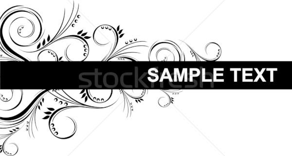 ornamental banner Stock photo © hayaship