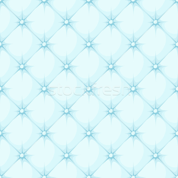 blue padded upholstery buttoned rhomb seamless pattern Stock photo © hayaship